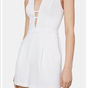 White BCBG MaxAzria shorts romper